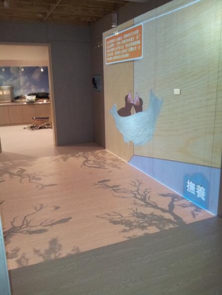 地板+牆面互動投影